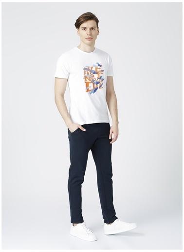 Limon Company Limon Beyaz Baskılı Erkek T-Shirt Beyaz